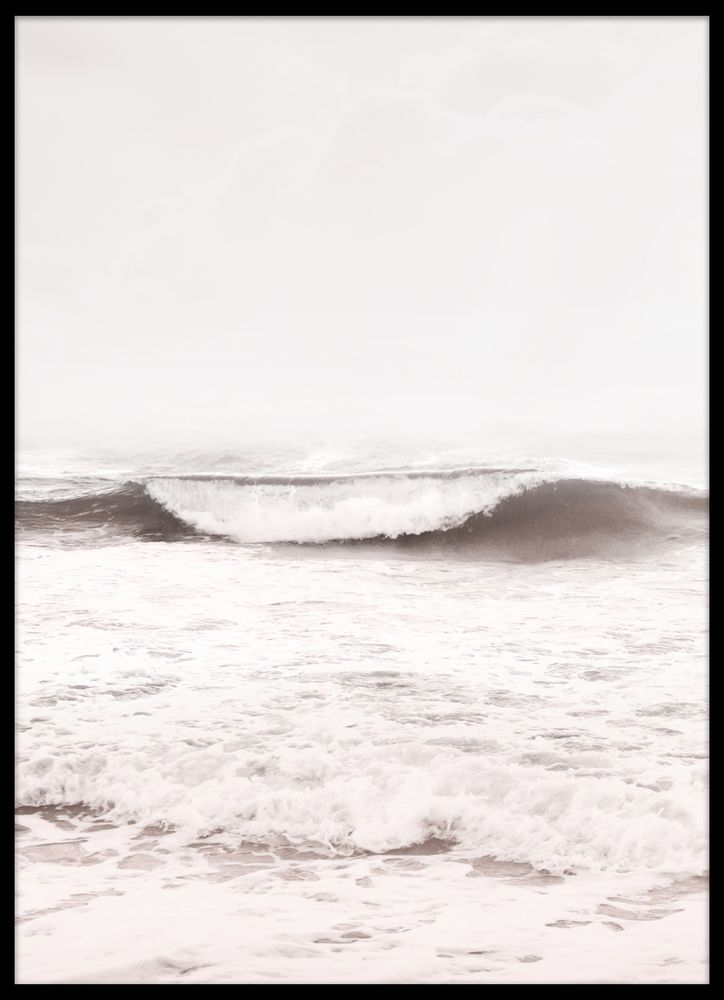 Brown wave poster