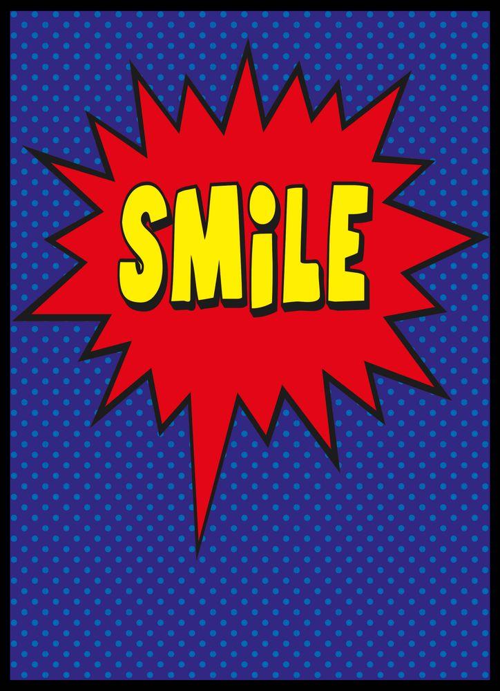 Cartoon smile poster