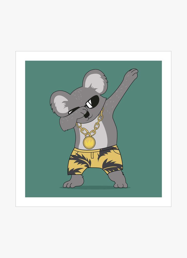 Cool koala poster
