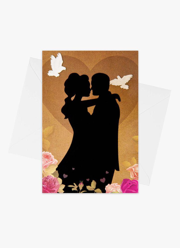 Bröllopskort siluett
