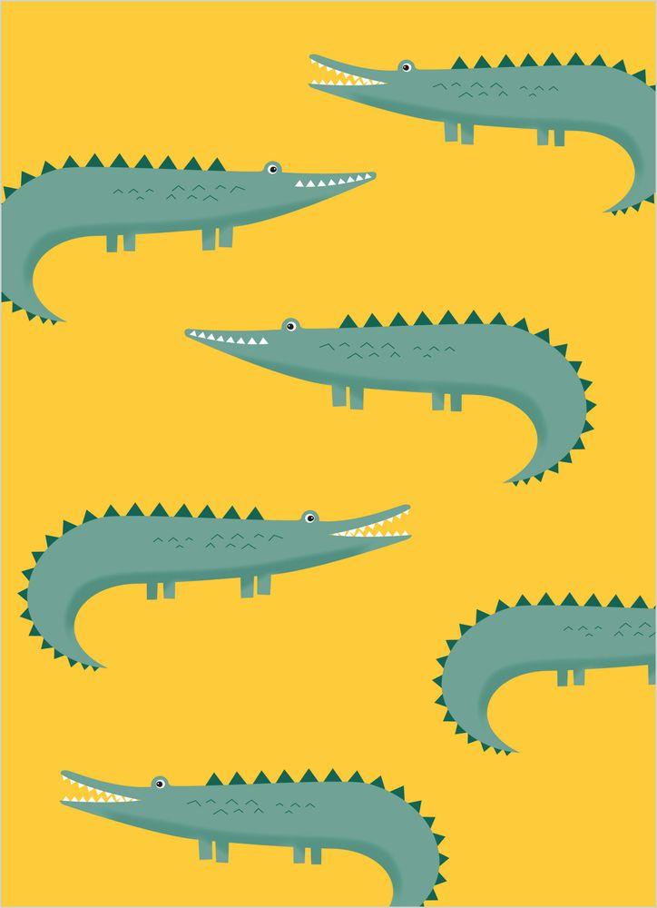 Söta krokodiler poster
