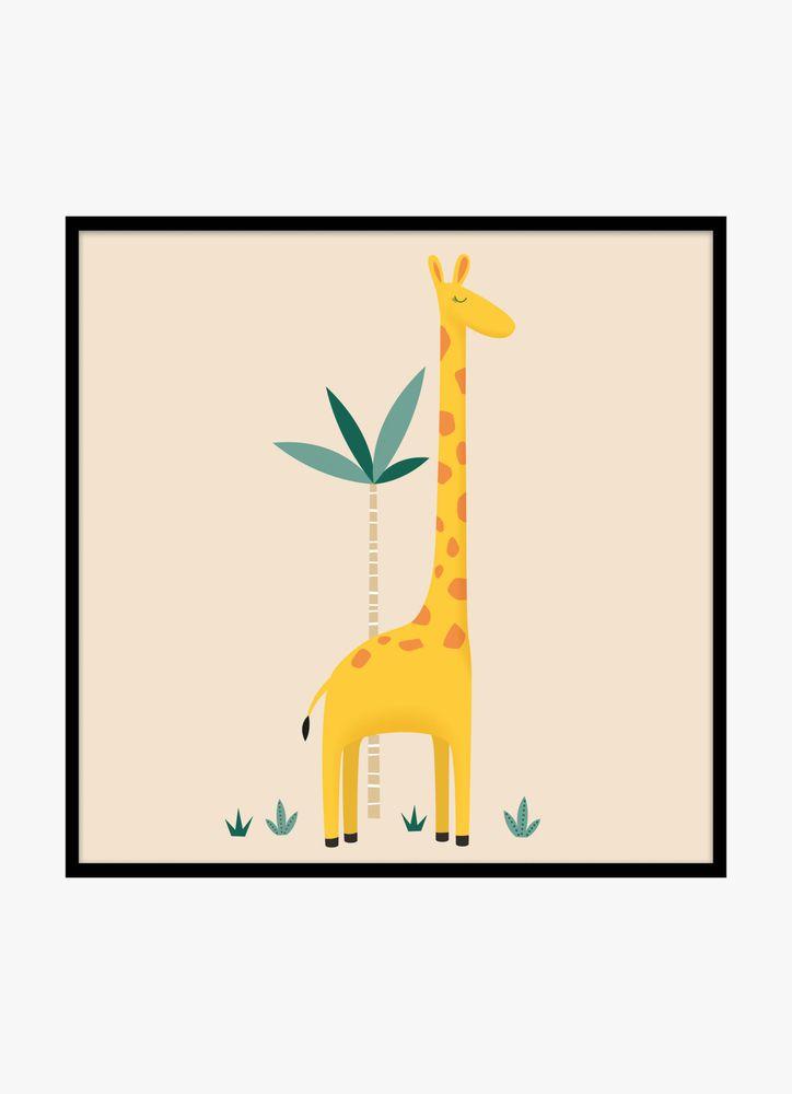 Söt giraff poster