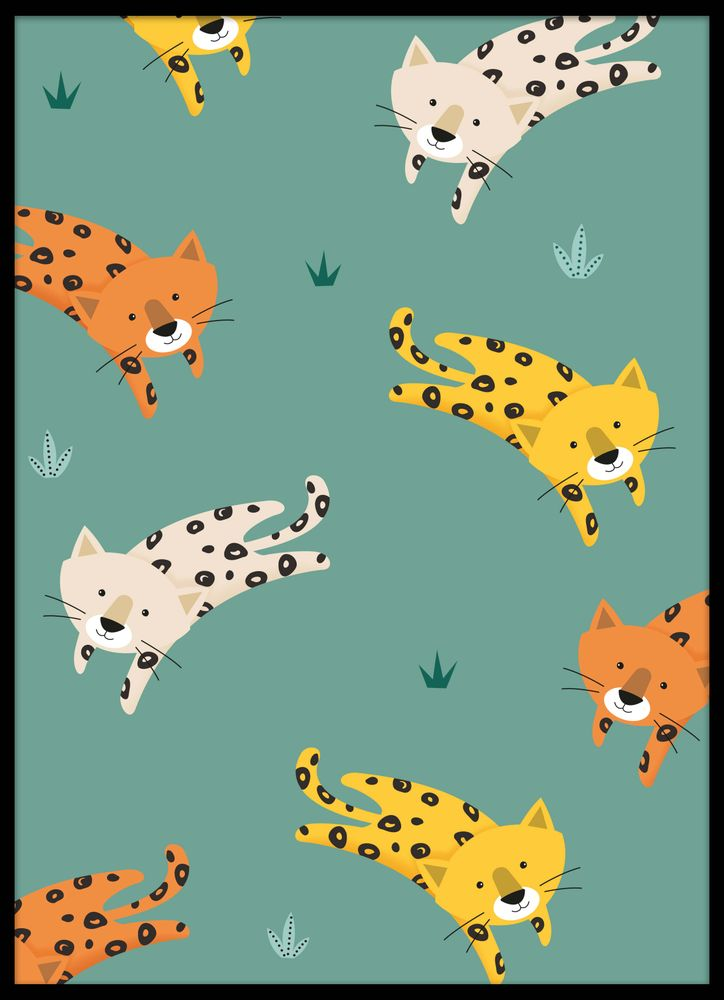 Söta leoparder poster