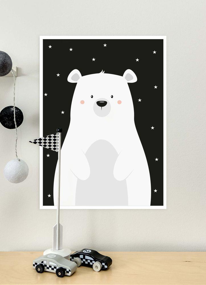 Söt isbjörn poster