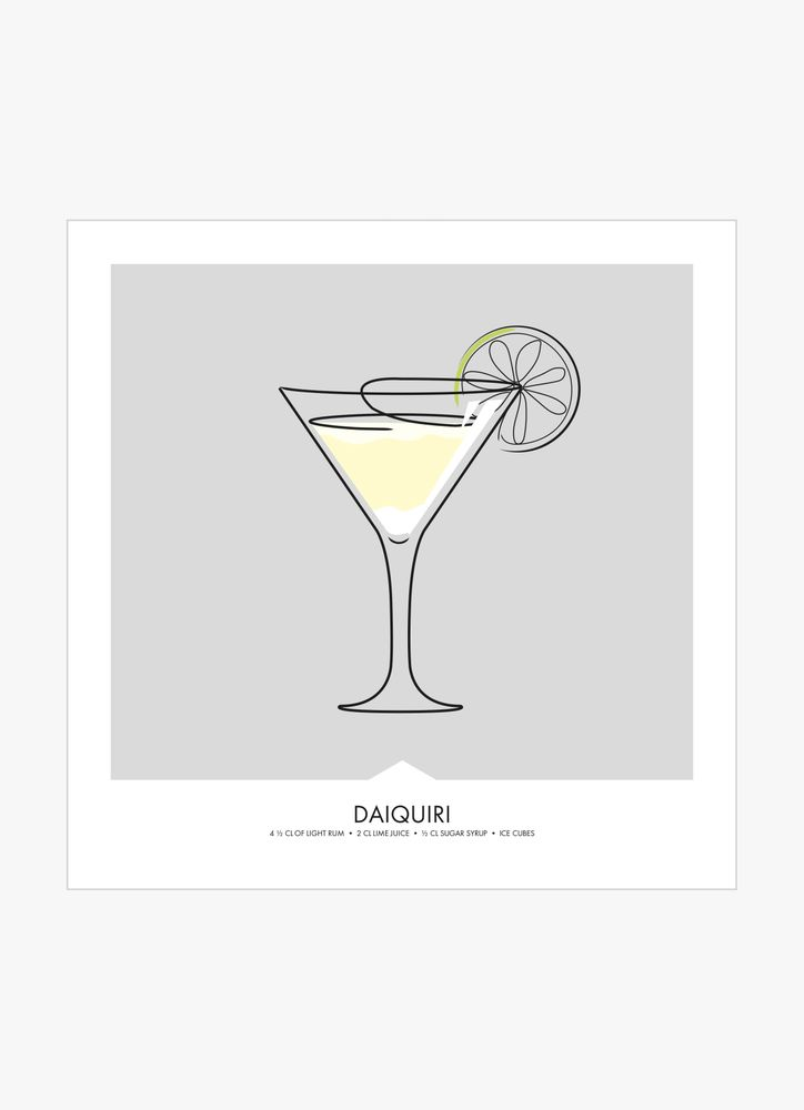 Daiquiri drink poster