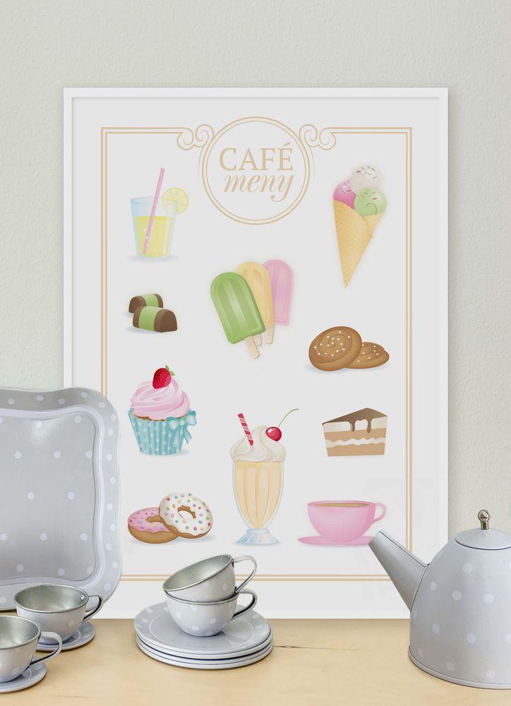 Delicious café menu poster