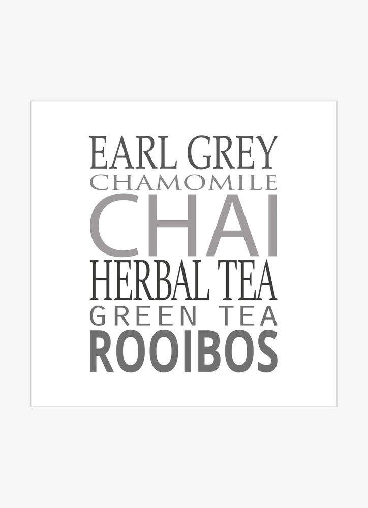Different tea text poster