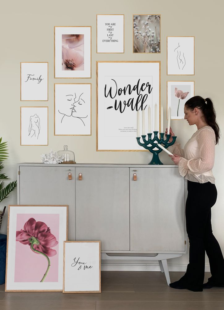 Dusty flower gallery wall poster