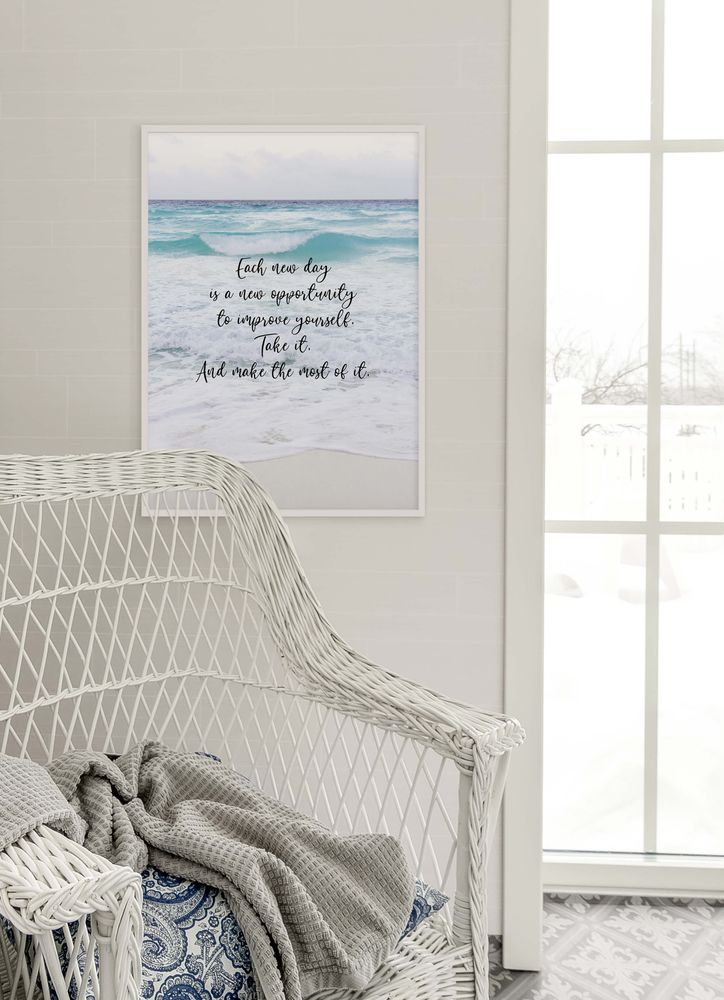 Each day text poster