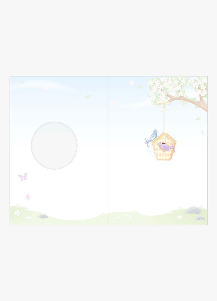 Eleganta fågelhus kort