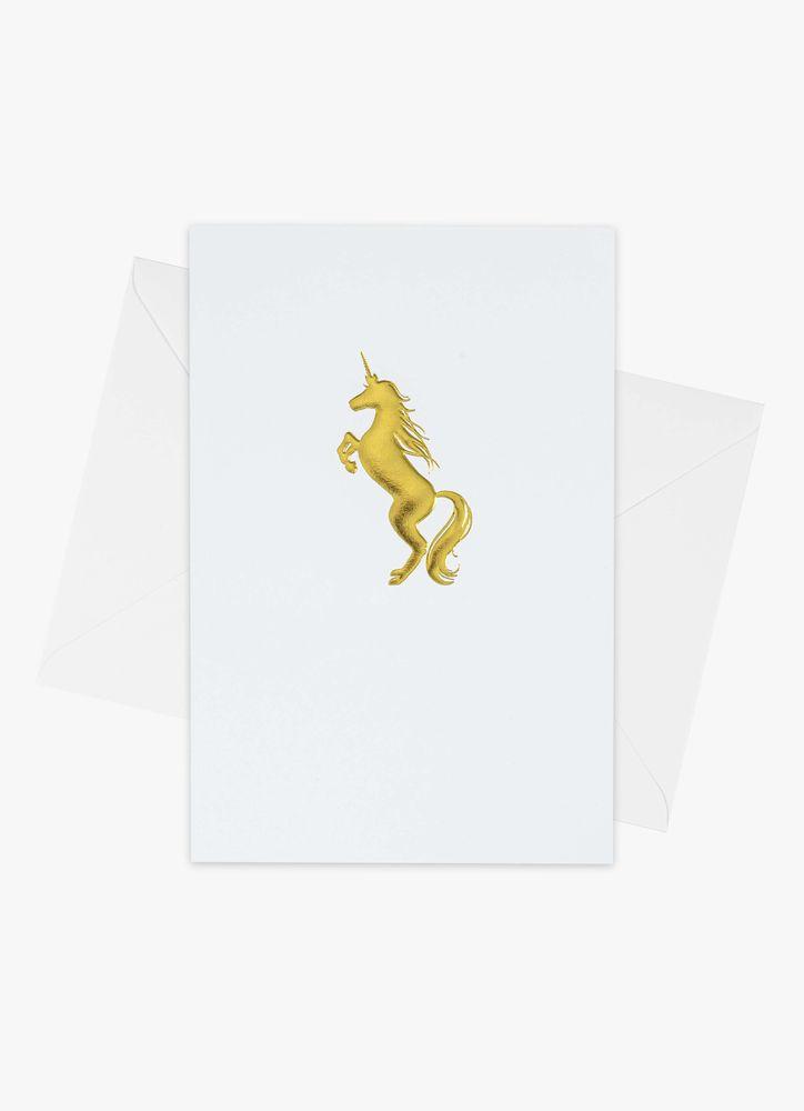 Enhörning i guld kort