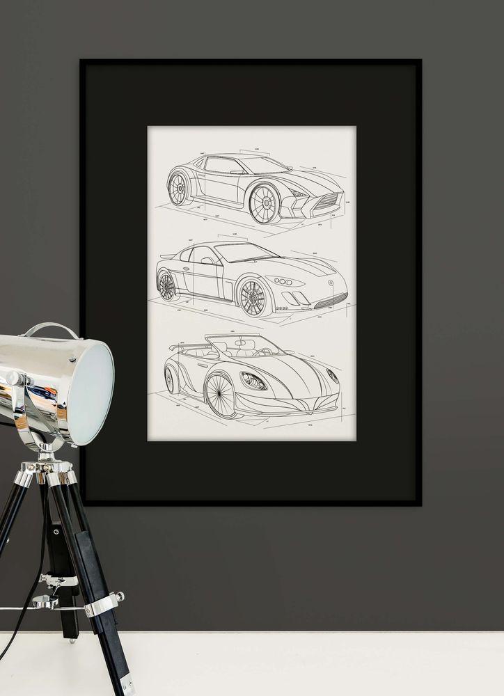 Exklusiva bilar poster