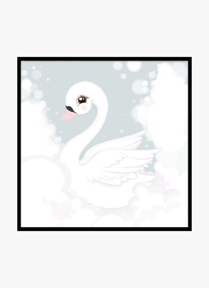 Fairy swan poster