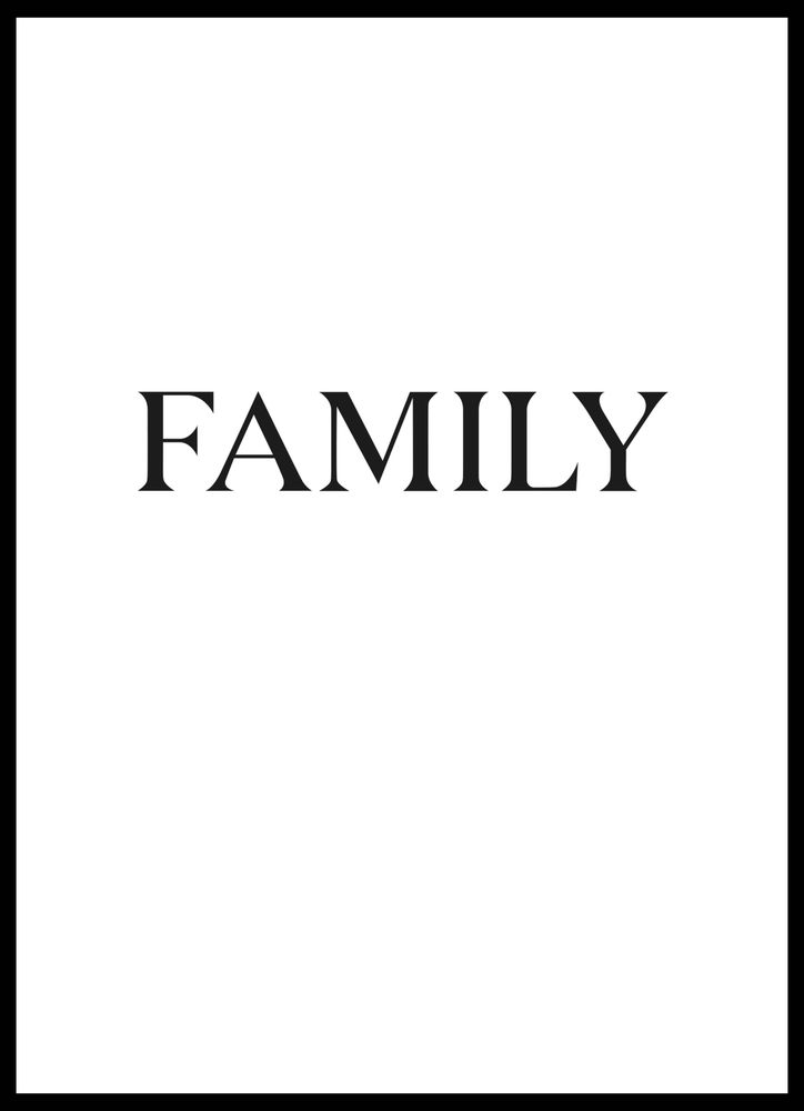 Family big text poster