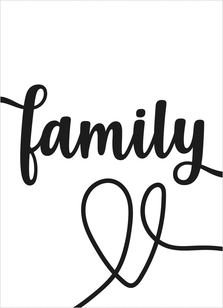 Family text poster