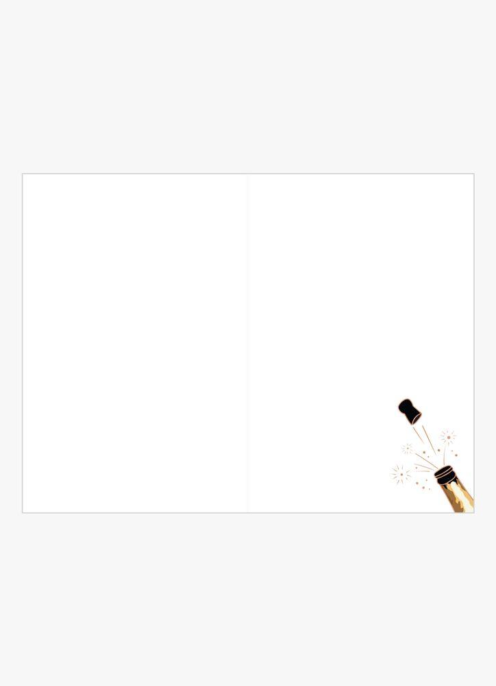 Skålande champagneglas kort