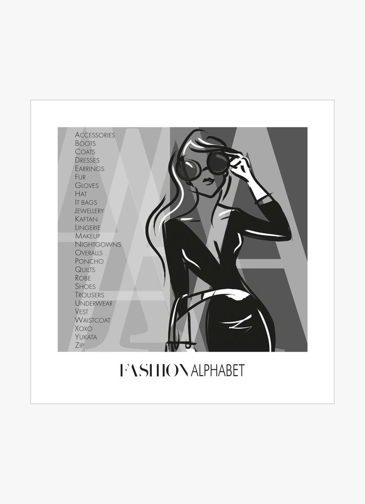 Fashion alphabet poster