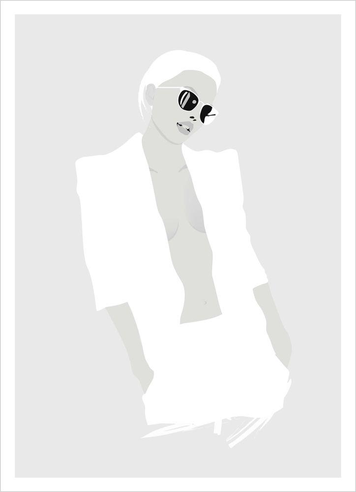 Fashion kvinna med glasögon poster