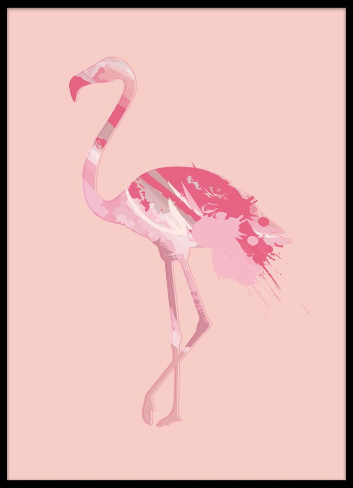Flamingo rosa mönster poster