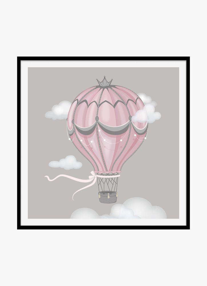 Rosa luftballong poster