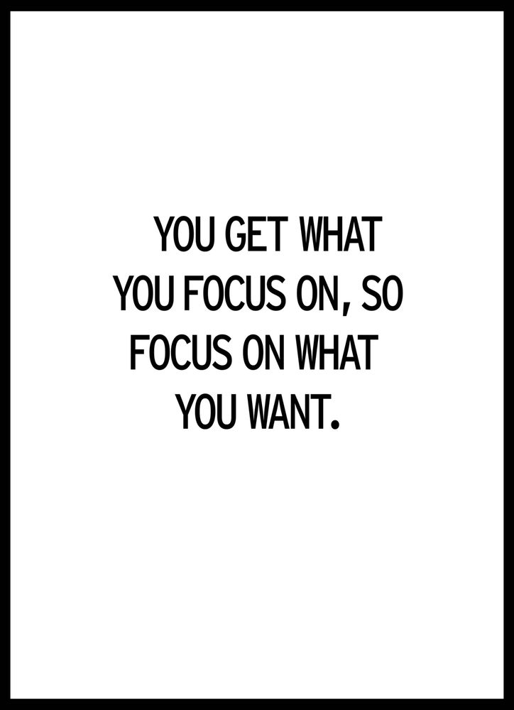 Focus text poster