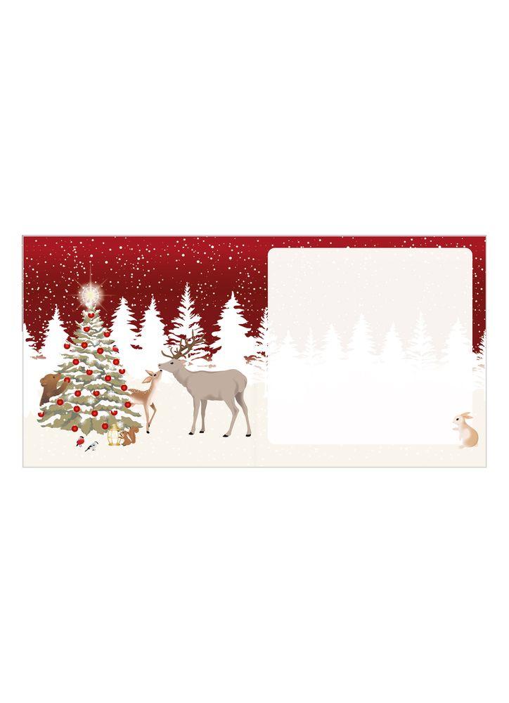 Skogens djur julkort