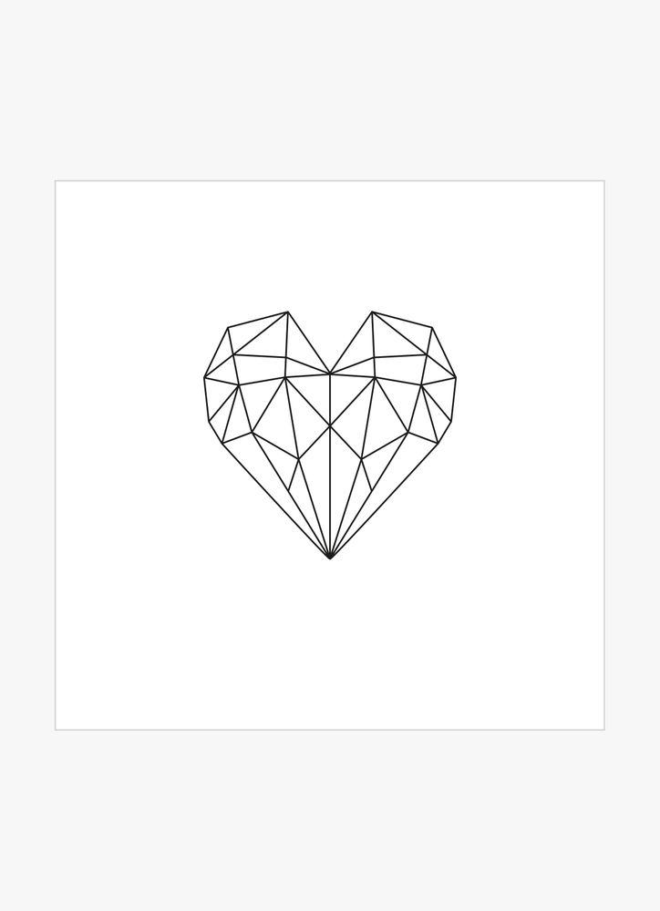 Hjärta geometriskt poster
