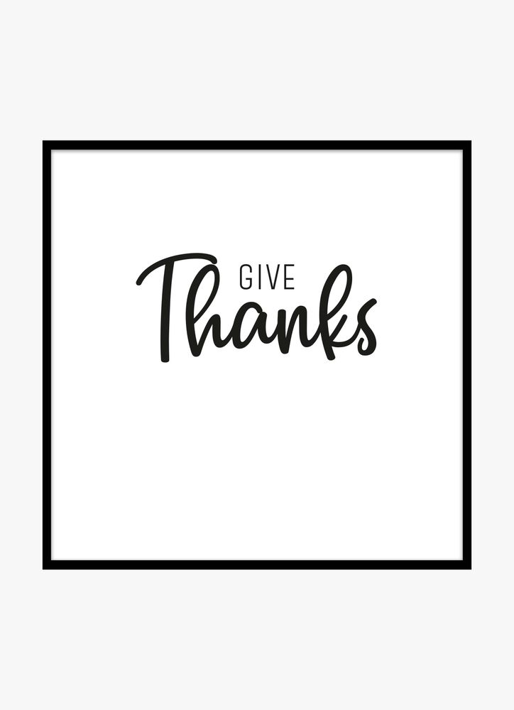 Give thanks text poster