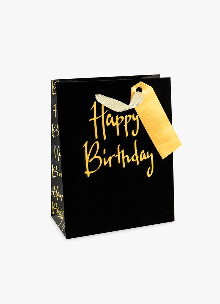 Birthday guld presentpåse M