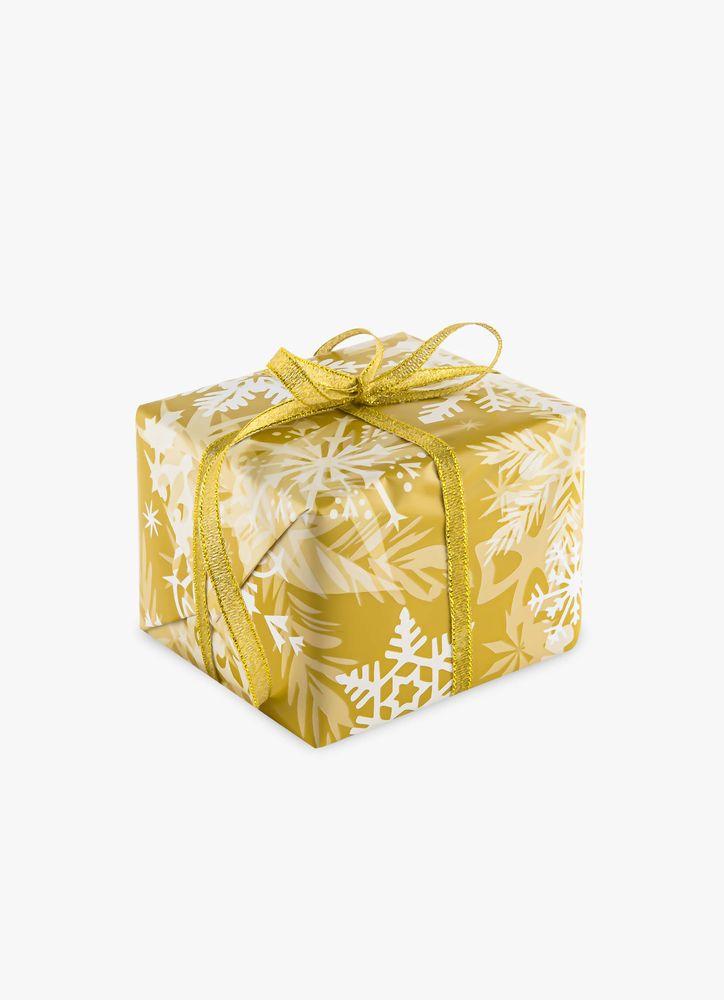 Presentpapper Snöflingor guld