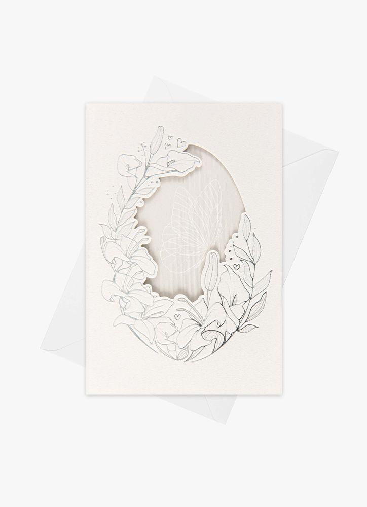 Fridfull fjäril kort