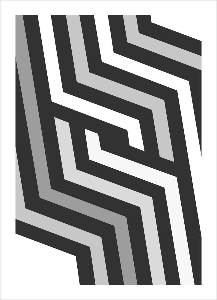 Grafisk grå nr1 poster