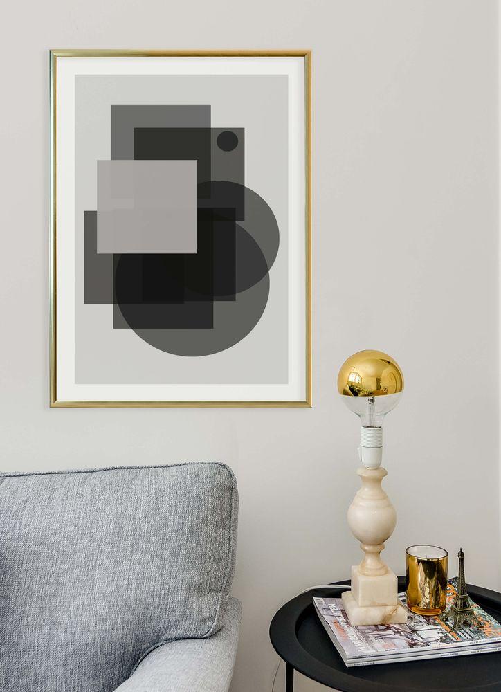 Grafisk grå nr3 poster