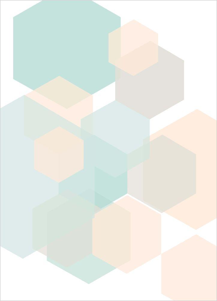 Grafisk pastell nr1 poster