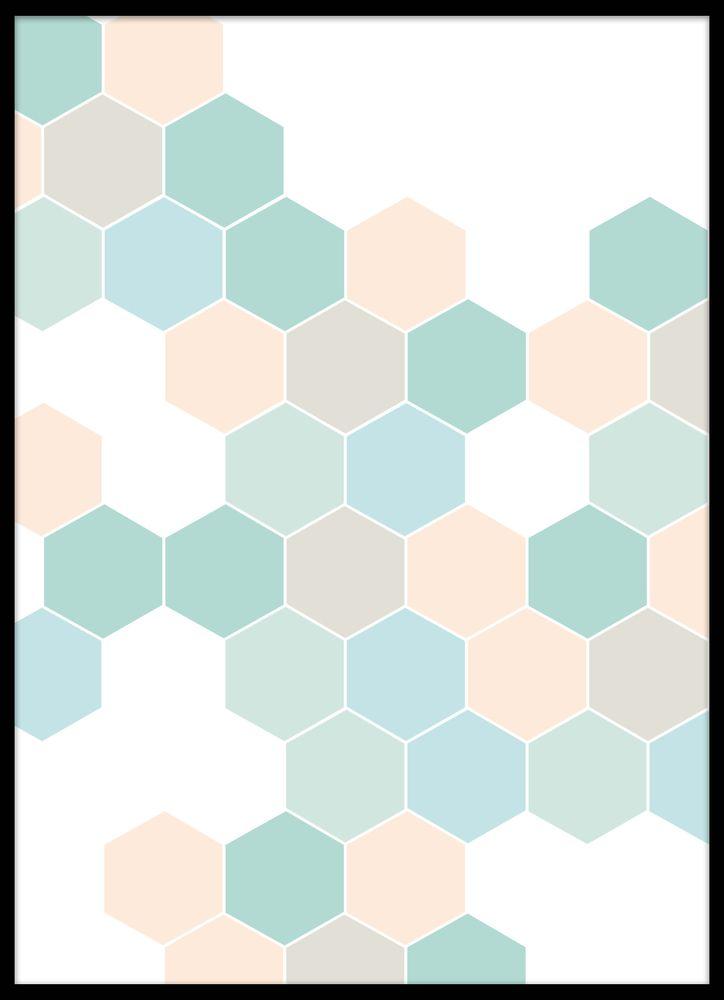 Grafisk pastell nr3 poster