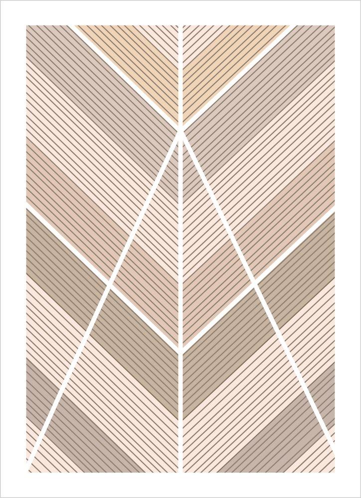 Grafiska mönster brun nr1 poster