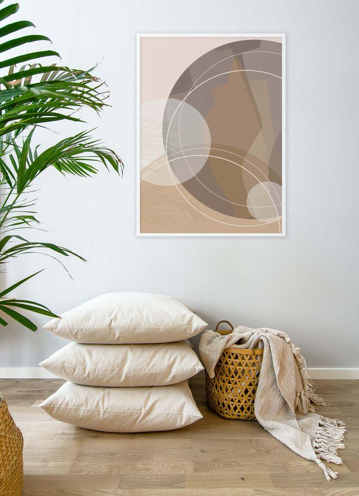 Grafiska mönster brun nr3 poster