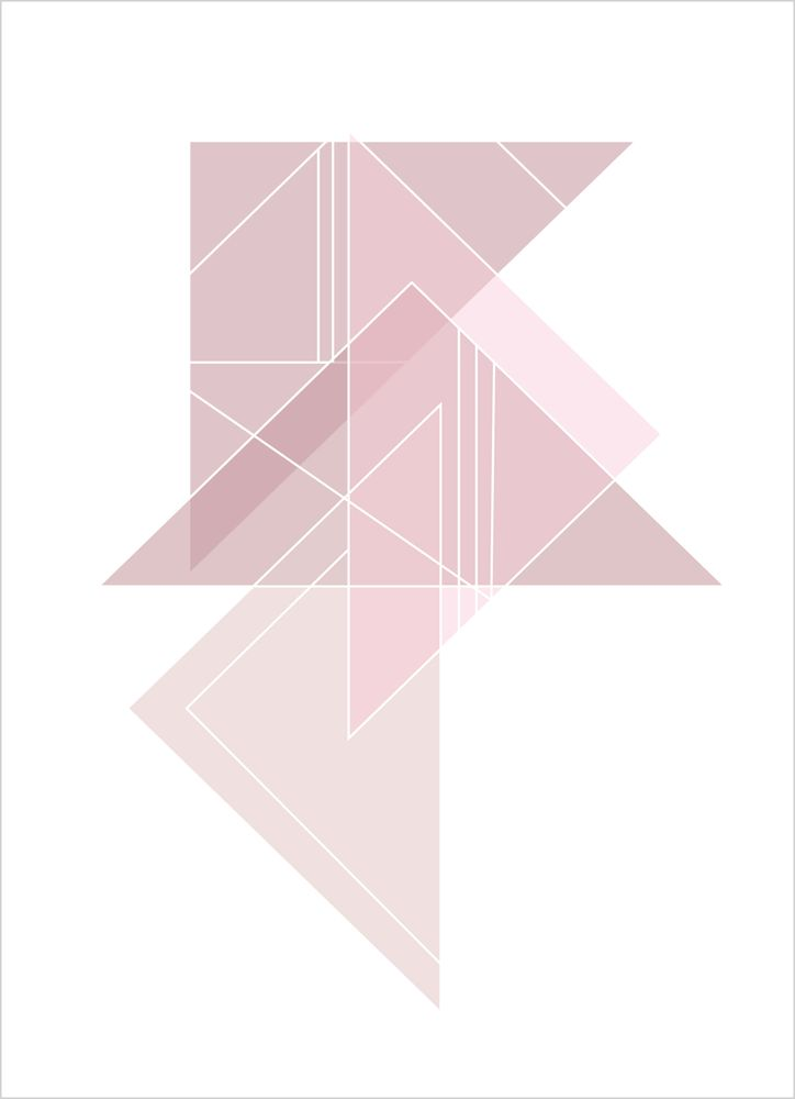 Grafiska mönster rosa nr3 poster