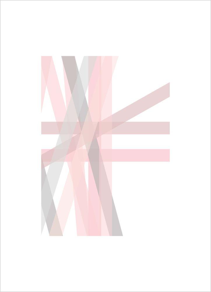 Grafisk rosa nr1 poster