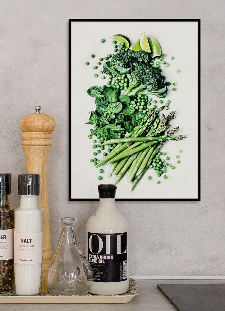 Grönsaker grön poster