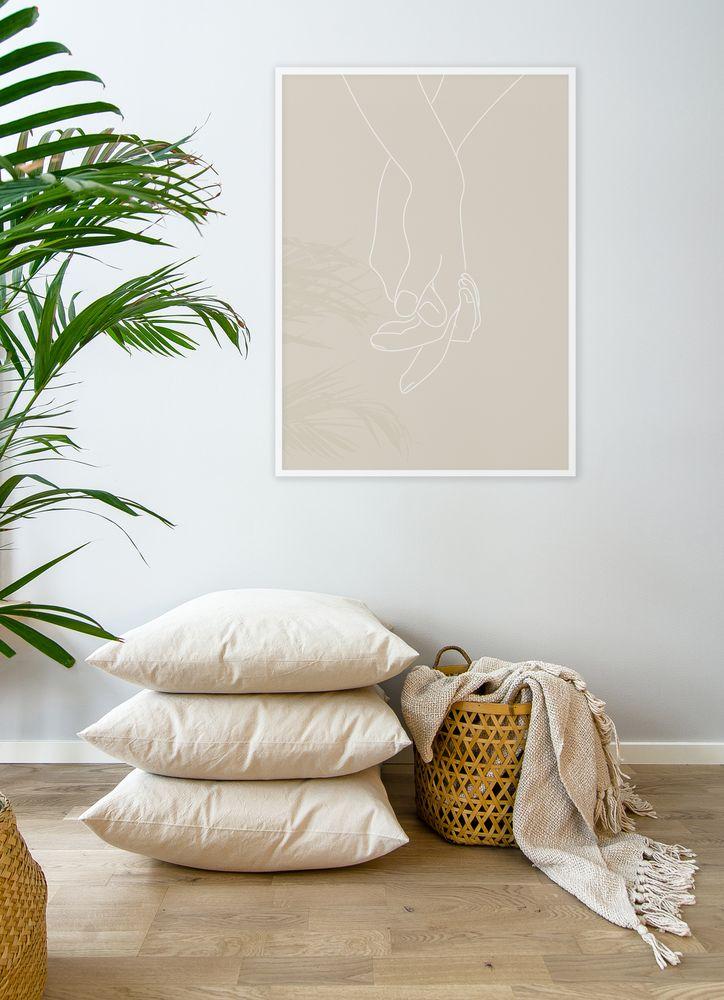 Händer beige poster