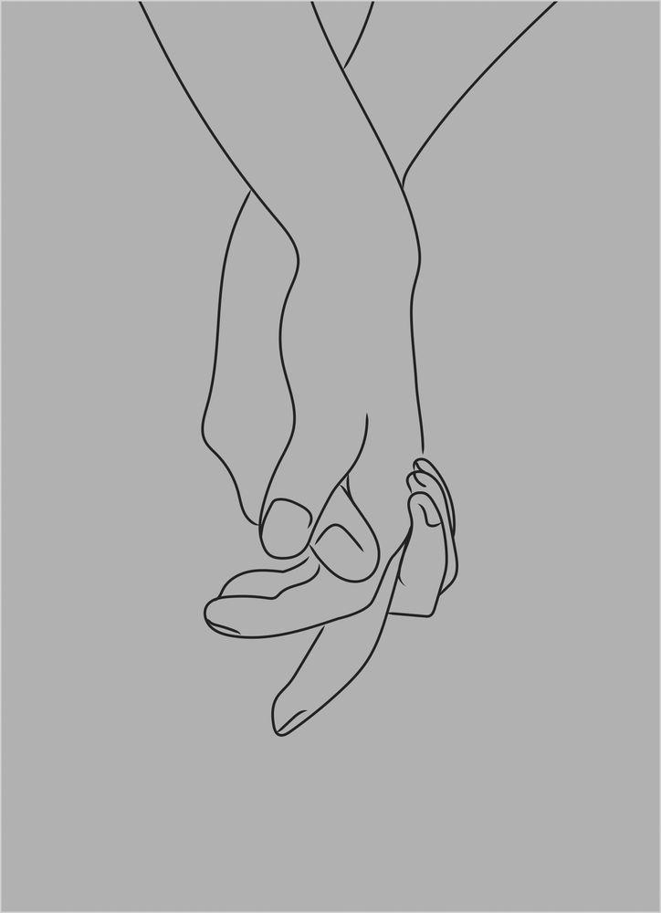 Händer grå poster