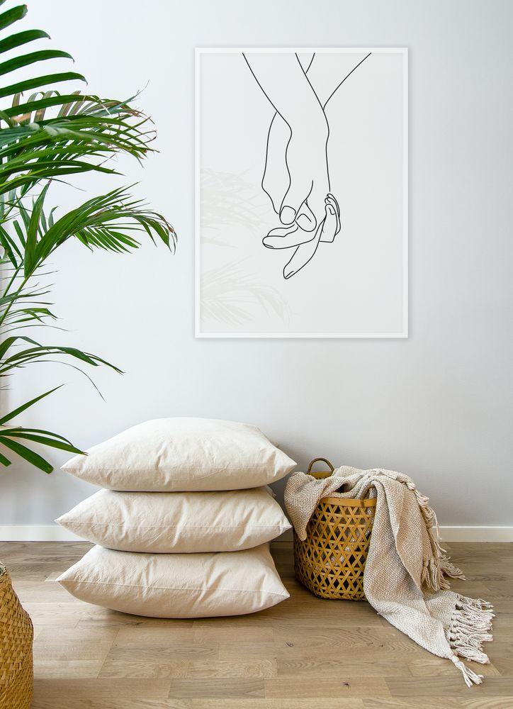 Händer vit poster
