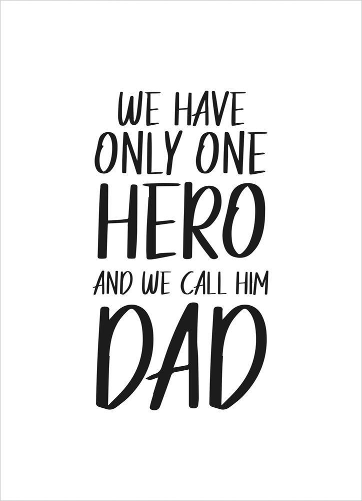 Hero dad poster