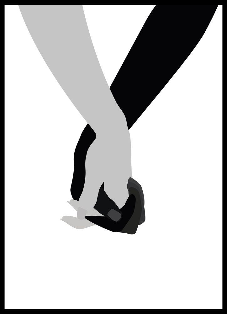 Hålla hand poster