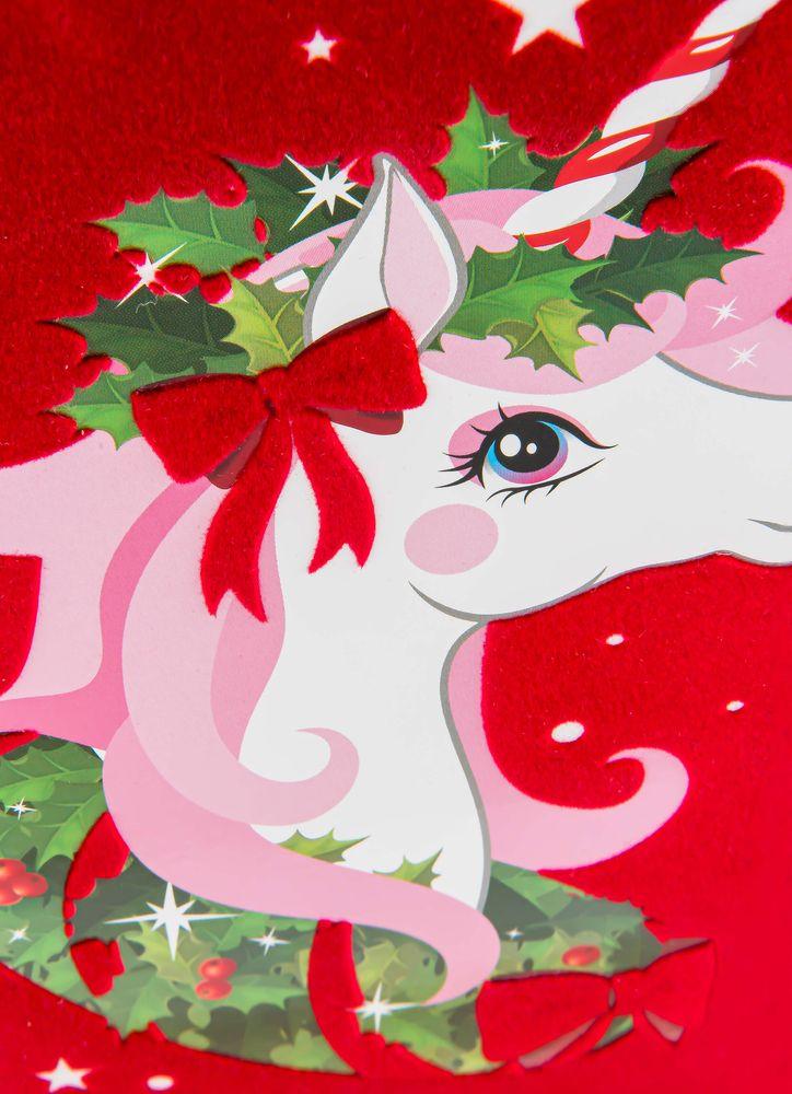 Jul-enhörning julkort
