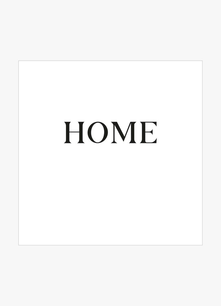 Home big text poster