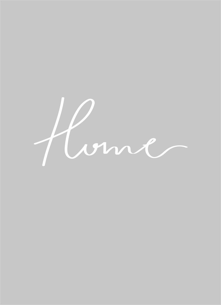 Home grey text poster