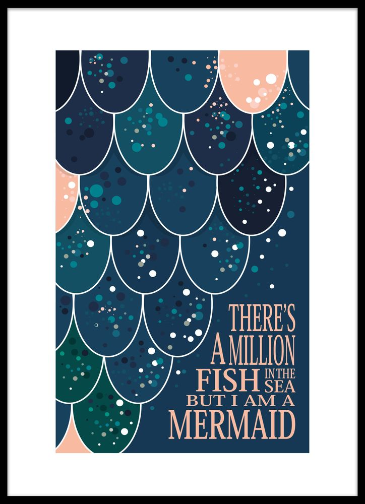 I am a mermaid text poster