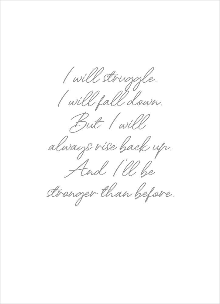 I will struggle text poster